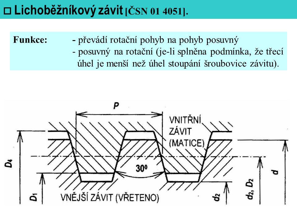  Lichoběžníkový závit [ČSN 01 4051].
